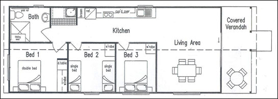 Kilcoy Motel Barn Floorplan
